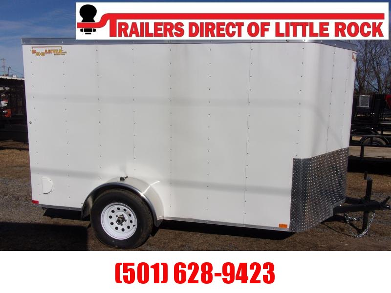 !!! BLOW OUT!!!  Doolittle  6x10 WHITE Enclosed REAR RAMP