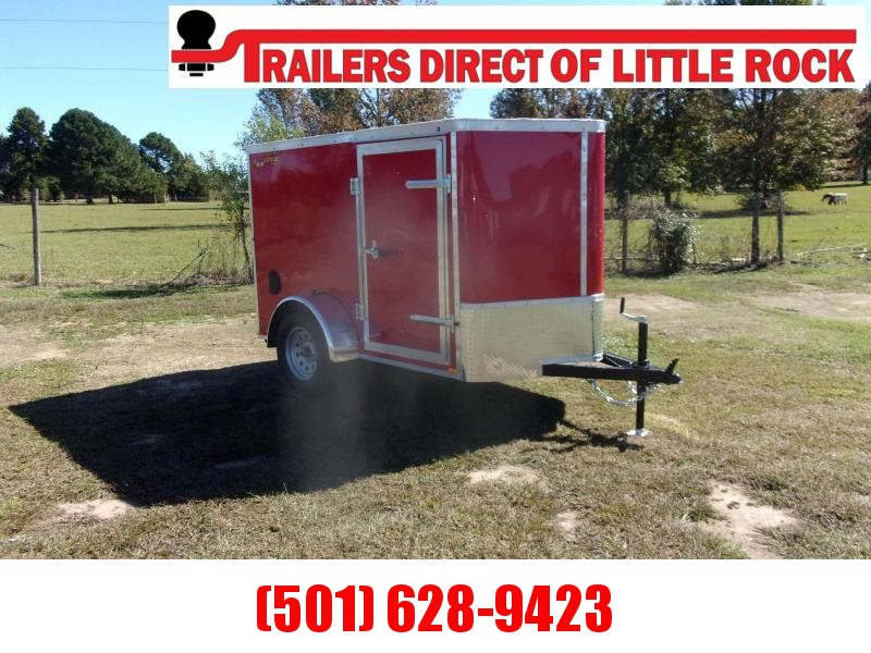 Doolittle BULLITT 5X8 RED  Enclosed REAR RAMP & SIDE DOOR