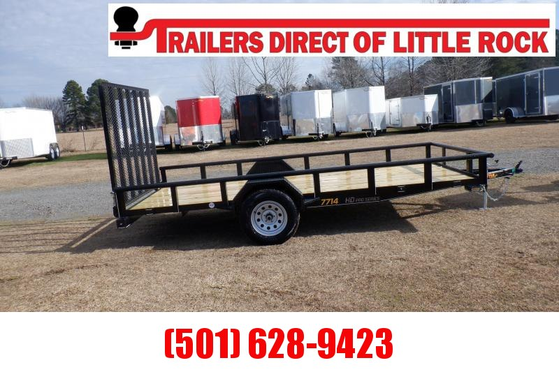 Doolittle 77x14 Utility Trailer 5' EZ_LIFT Gate