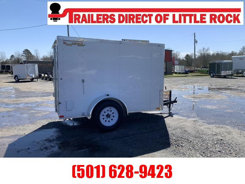 Doolittle 5x8 White Barn Door Enclosed Cargo