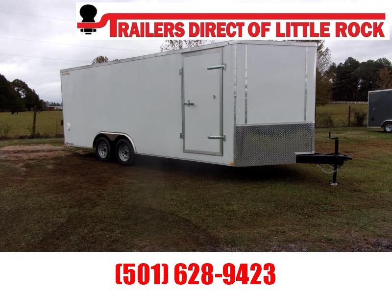 Doolittle 8.5x20 7K gvwr Enclosed rear ramp