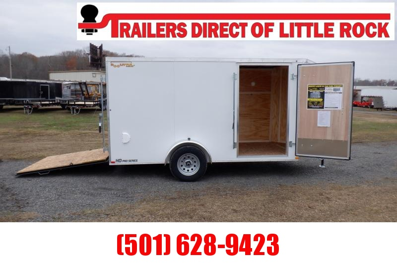 Doolittle Bullitt 6X12 Enclosed Cargo Trailer REAR RAMP