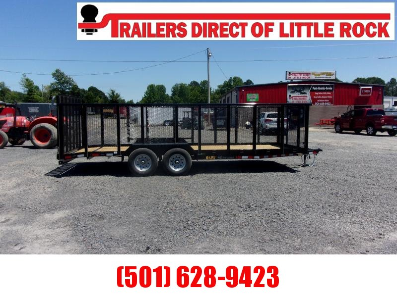 Doolittle  84x20 Tandem Axle 7K Utility Trailer 4 ' MESH WALLS 5' EZ-LIFT GATE
