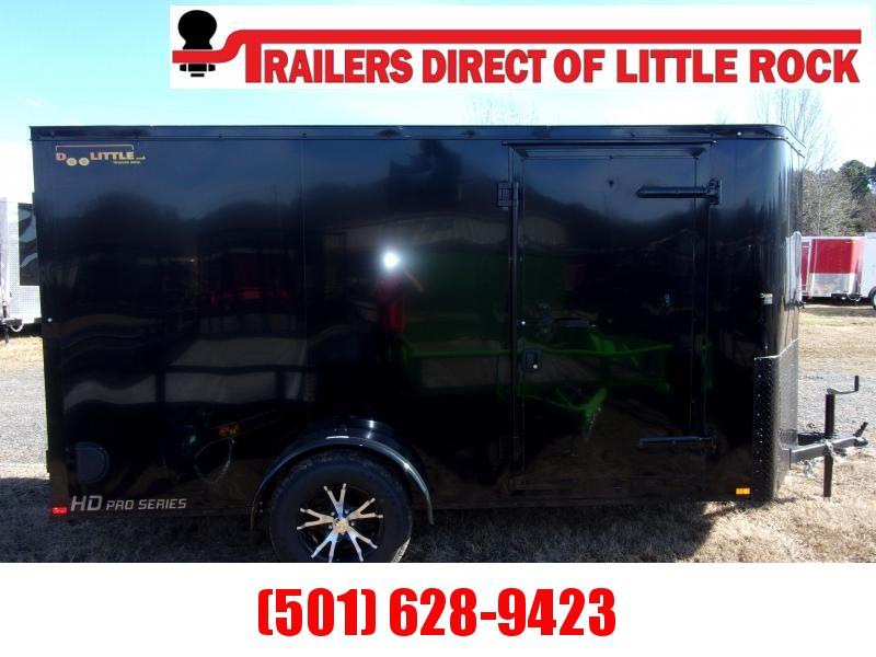 Doolittle 6x12 Enclosed Cargo Trailer Blackout PKG Rear Ramp