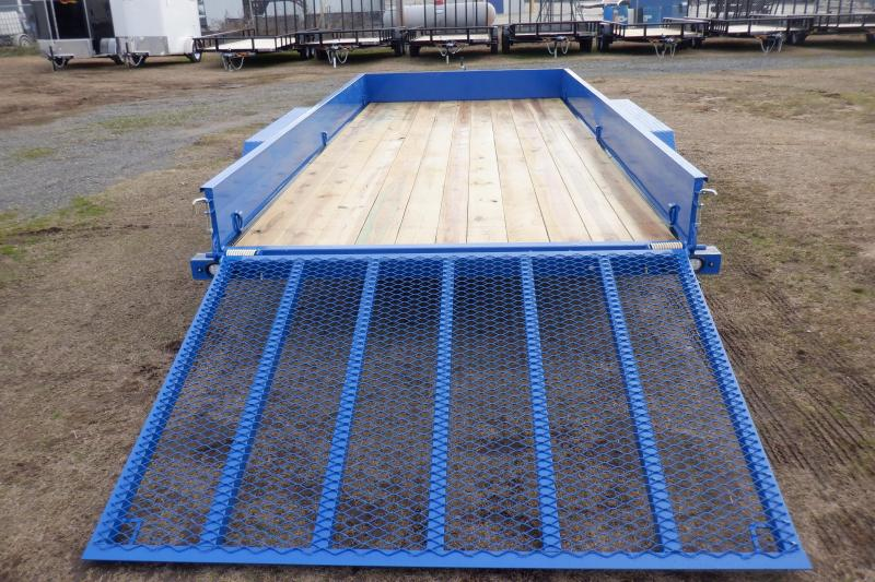 Doolittle SS 84X16 INDIGO BLUE Utility Trailer 5' EZ-LIFT GATE LOCKING TOOL BOX