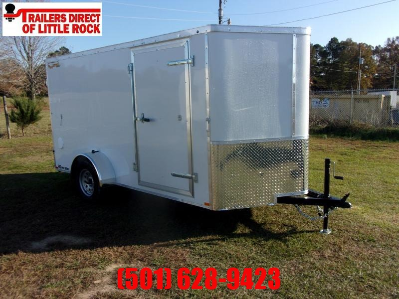 Doolittle 6x12 Bullitt  Enclosed Cargo Trailer Barn Door