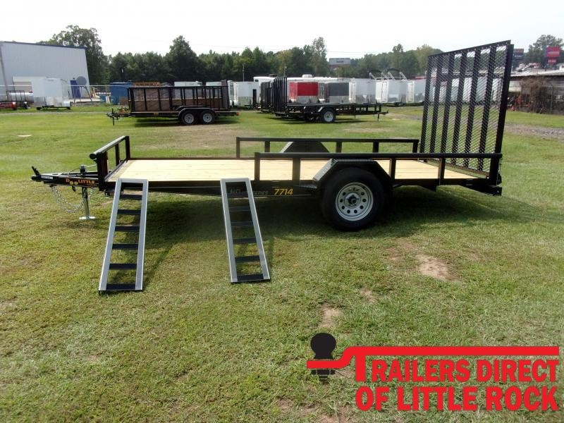 2021 Doolittle Trailer Mfg 77x14 Single Axle 3K Utility Trailer