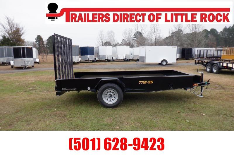Doolittle SS 77X12 Utility Trailer W/ TOOL BOX 5'EZ-LIFT GATE
