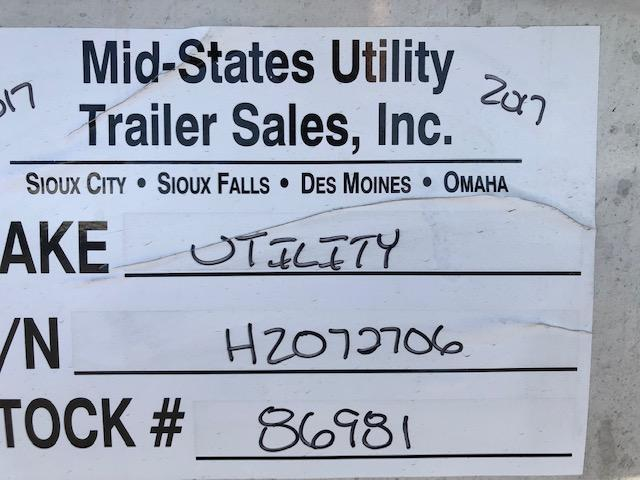 2017 Utility Trailer Manufacturing Company Reefer