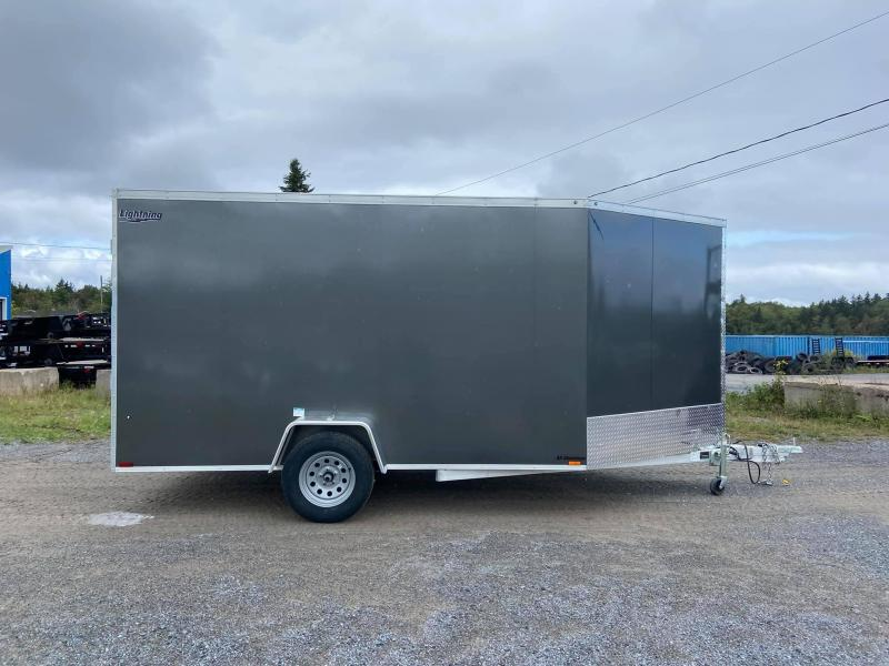 2022 Lightning Trailers 7x12 plus 5 ft vnose Snowmobile Trailer