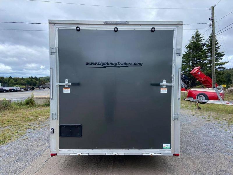 2022 Lightning Trailers 7x14 plus 5 vnose Snowmobile Trailer