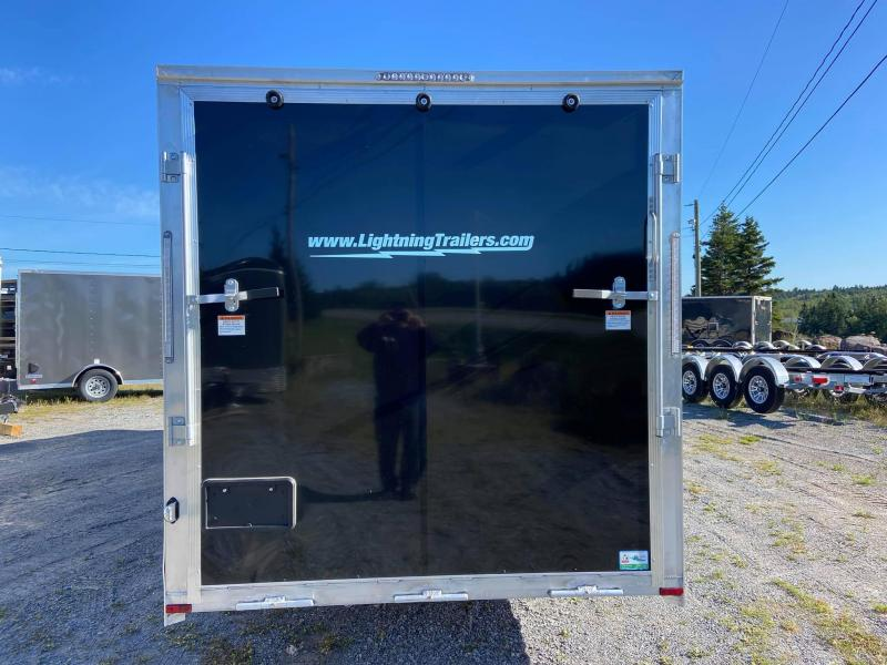 2022 Lightning Trailers 7x18 plus  5' vnose Snowmobile Trailer