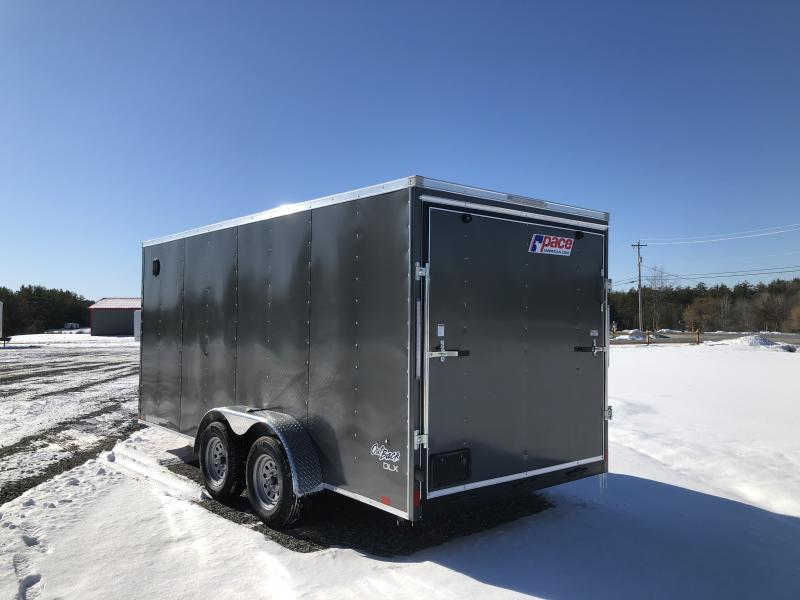 2022 Pace American OB7X16TE2 DLX 7X16 Enclosed Cargo Trailer
