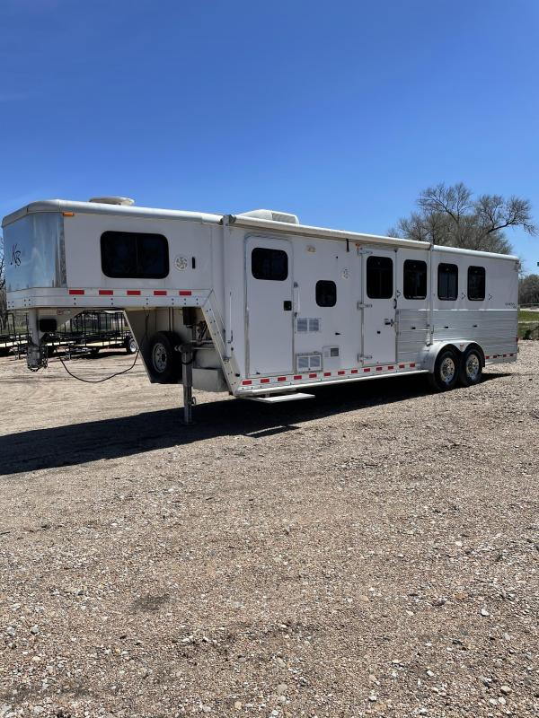 2004 Kiefer Built 4horse living quarters Livestock Trailer