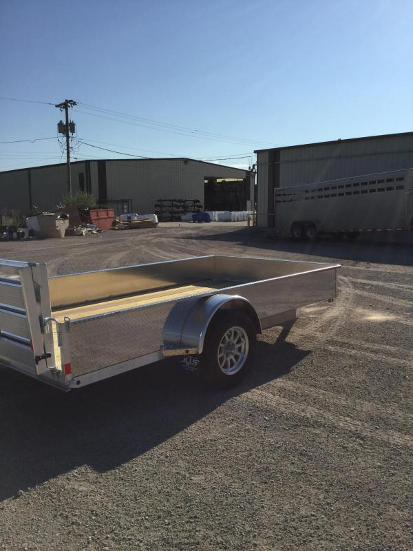 2021 H and H Trailer 76x12 Aluminum Solid Side Utility Trailer 3K Idler (H7612SSA-030) Utility Trailer