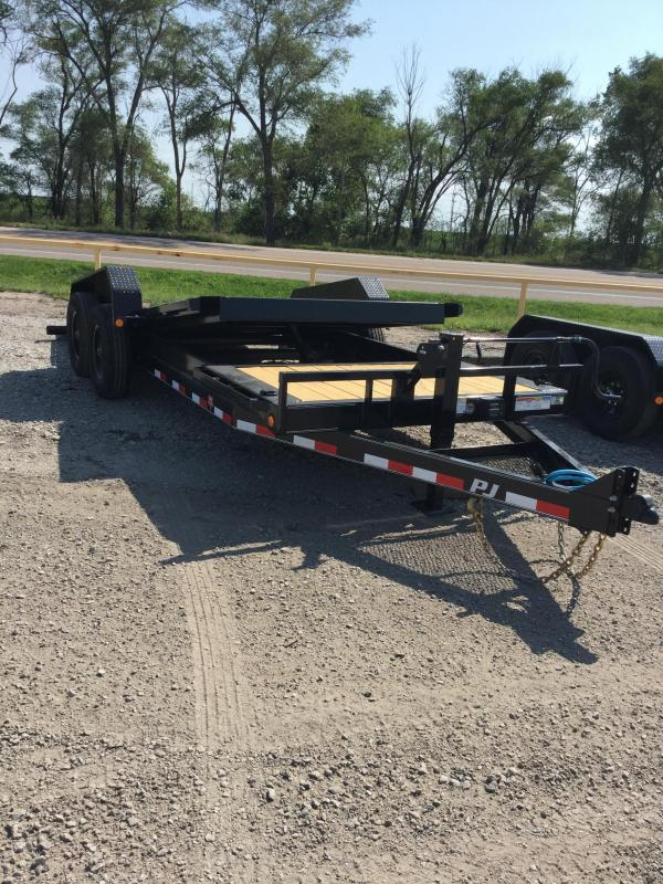 2021 PJ Trailers HD Equipment Tilt 6 in. Channel (TJ) Equipment Trailer