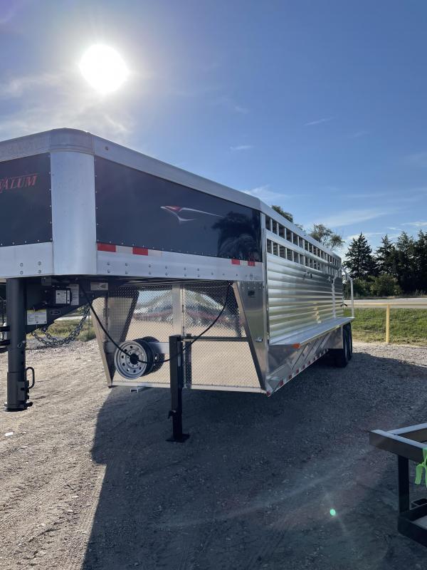 "2022 Travalum 6'8""x24' Stock Livestock Trailer"