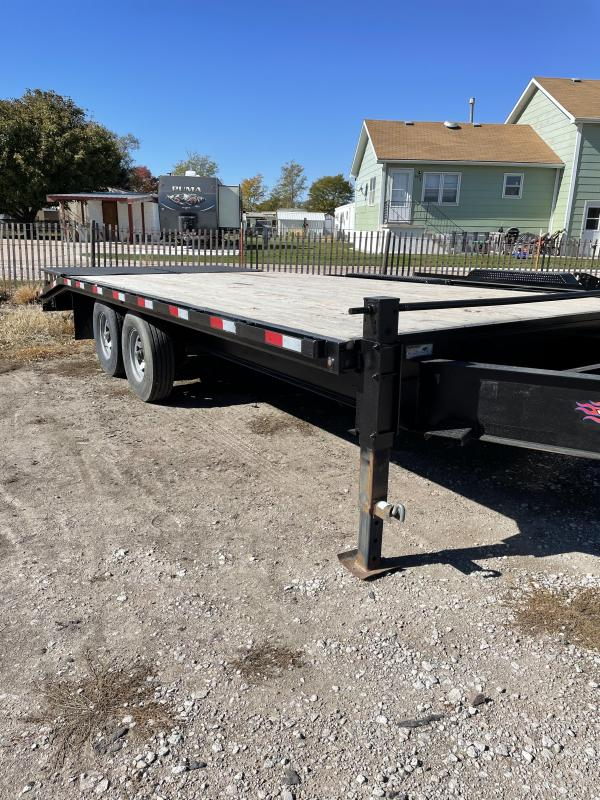 2013 H and H Trailer 20' Flatbed Flatbed Trailer