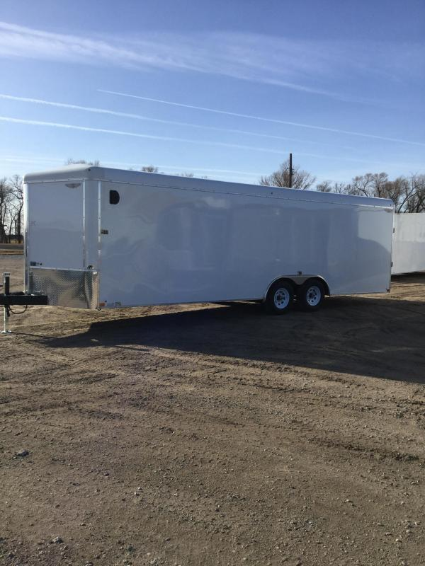 2021 H and H Trailer 8.5x24 HH Series Round Top V-Nose Enclosed Car Hauler Trailer 10K (H10124RTCHV-100) Enclosed Cargo Trailer
