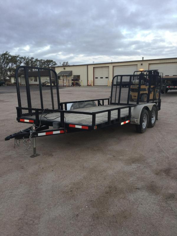 2013 PJ Trailers 83 in. Tandem Axle Channel Utility (UL) Utility Trailer