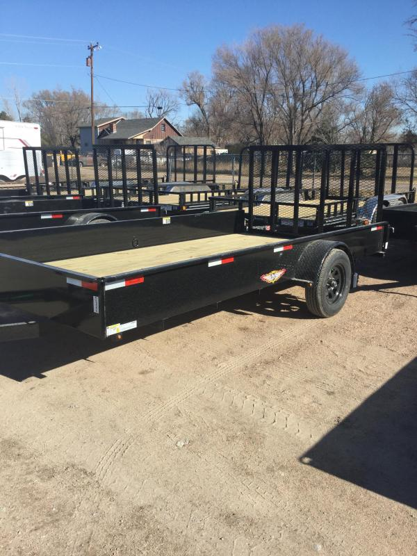 2021 H and H Trailer 82x14 Solid Side Utility Trailer 3K Idler (H8214SS-030) Utility Trailer