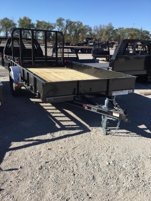 2021 PJ Trailers 77 in. Single Axle Channel Utility (U7) Utility Trailer