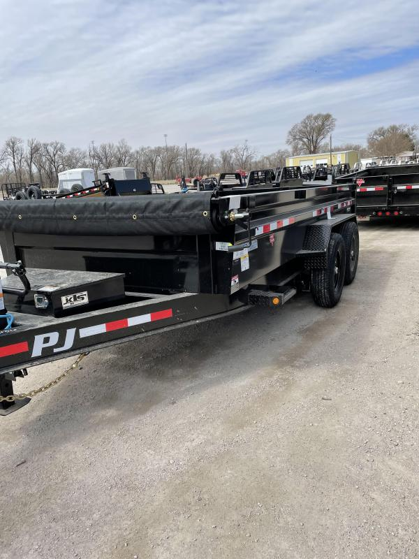 "2021 PJ Trailers 83"" x 14' 14K Low-Profile Dump PRO (DL) Dump Trailer"