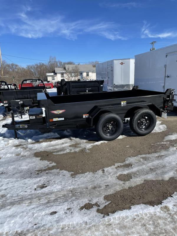 2021 H and H Trailer 62x10 Utility Dump Trailer 5K Single Ram (H6210UD-15-070) Dump Trailer