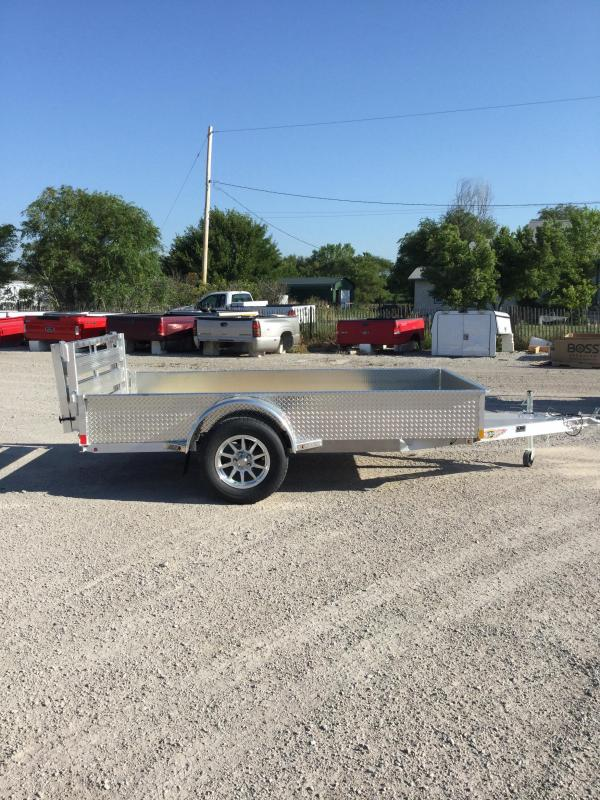 2021 H and H Trailer 66x10 Aluminum Solid Side Utility Trailer 3K Idler (H6610SSA-030) Utility Trailer