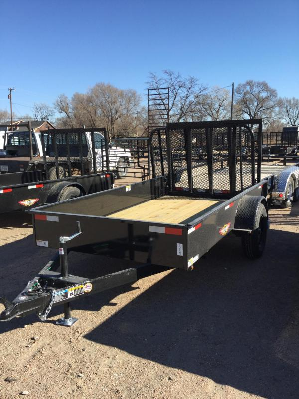 2021 H and H Trailer 66x10 Solid Side Utility Trailer 3K Idler (H6610SS-030) Utility Trailer