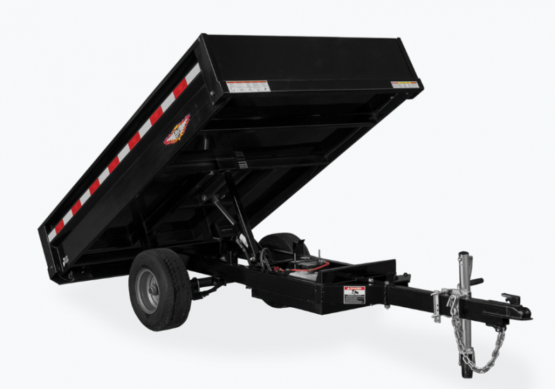 2021 H and H Trailer 4.5x8 Homeowner Dump Trailer 3K Single Ram (H5408D-B) Dump Trailer