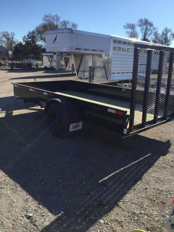2021 H and H Trailer 76x12 Solid Side Utility Trailer 3K Idler (H7612SS-030) Utility Trailer