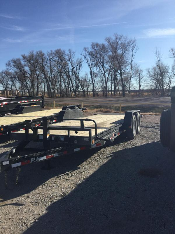 2018 PJ Trailers 6 in. Channel Equipment Tilt (T6) Flatbed Trailer