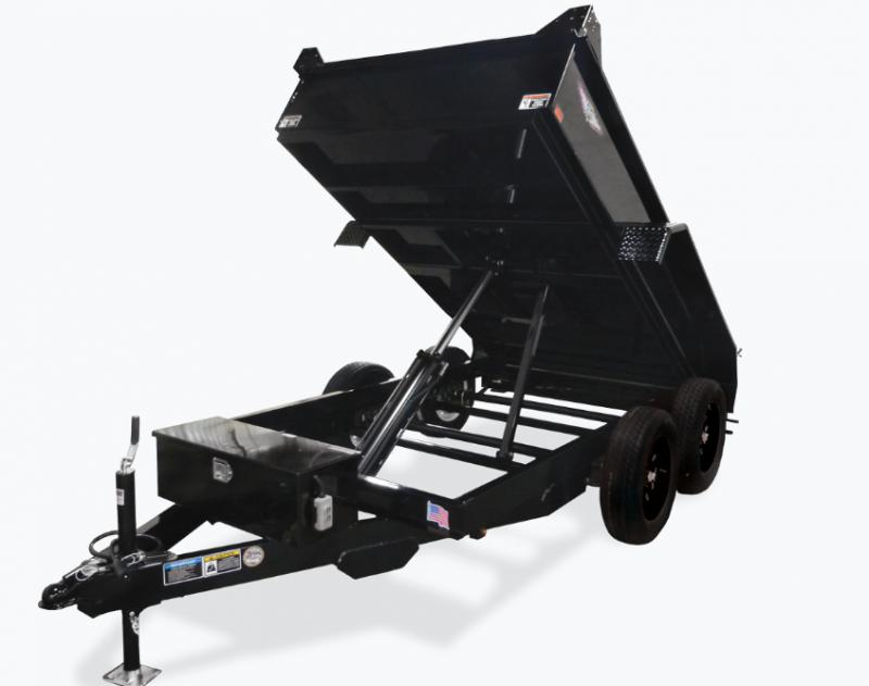 2021 H and H Trailer 62x10 Utility Dump Trailer 5K Single Ram (H6210UD-15-070) Dump Trailer
