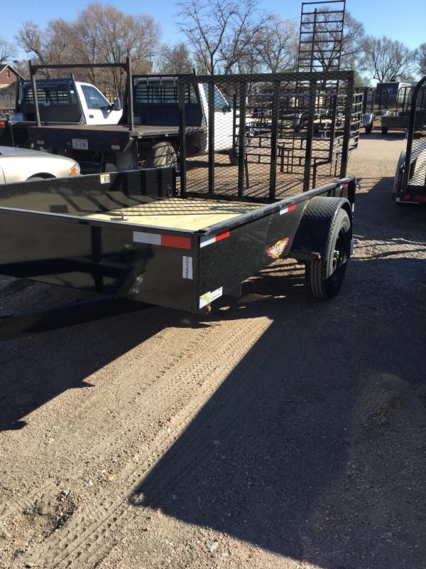 2021 H and H Trailer 76x10 Solid Side Utility Trailer 3K Idler (H7610SS-030) Utility Trailer