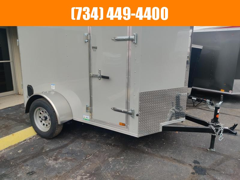 2021 Continental Cargo V Nose 5x8 Enclosed Cargo Trailer w Side Door