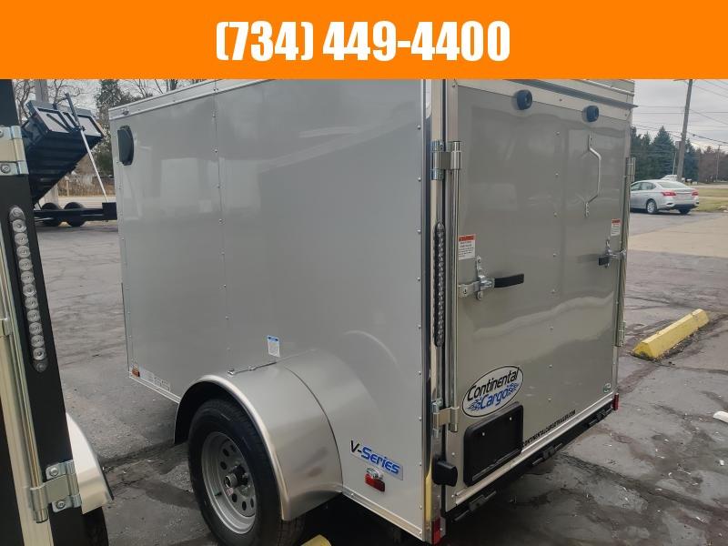 2021 Continental Cargo V Nose 5x8 Enclosed Cargo Trailer w Side Door