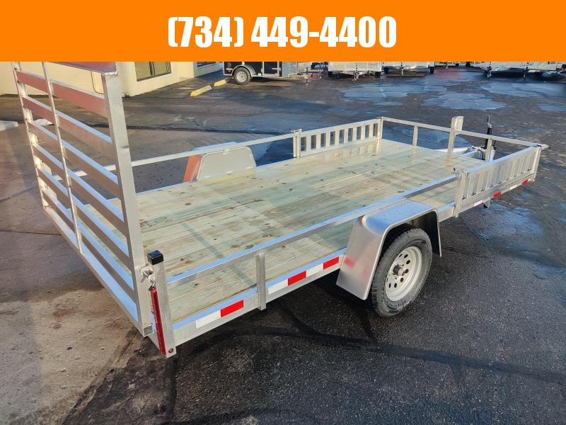 2021 Mid America Aluminum 7x14 ATV Trailer w Rear & Side Ramps Utility Trailer