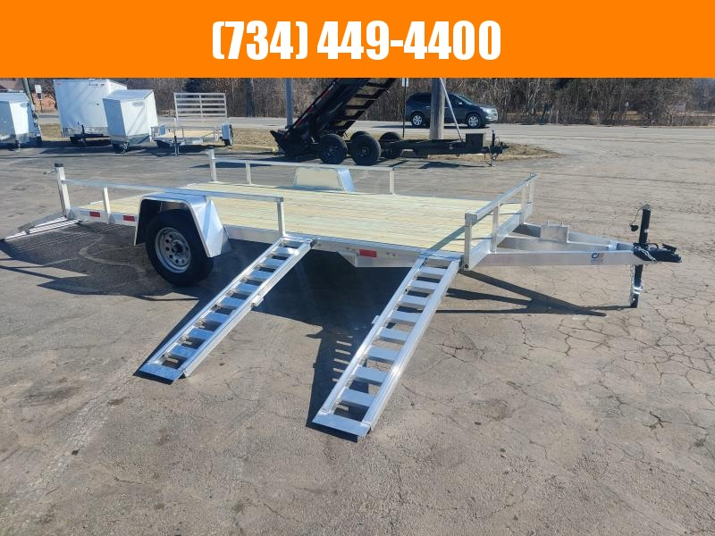 2021 Mid America Aluminum 7x14 ATV Trailer w Rear & Side Ramps Utility Trailer