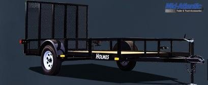 """2021 Holmes 6'10"""" x 18' 10k Tandem Axle Commercial Utility Trailer"""