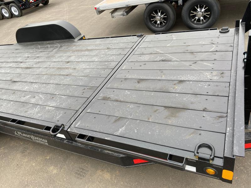 2022 Rainbow Trailers 22' Partial Tilt Car and Equipment w/ 2-7000 lb. Axle Equipment Trailer