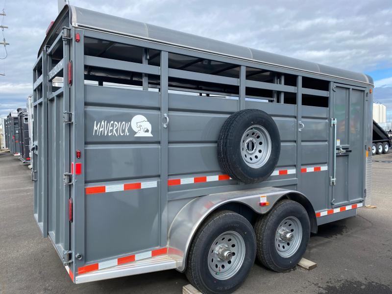 "2022 Maverick Stock 6'6"" x 17' Livestock Trailer"