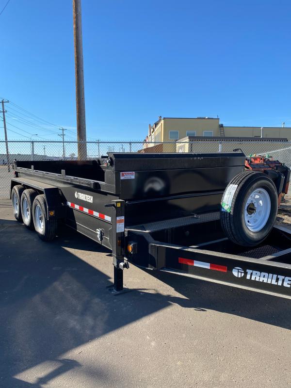 2022 Trailtech  3 x 7000lbs HD - 16' Dump Trailer