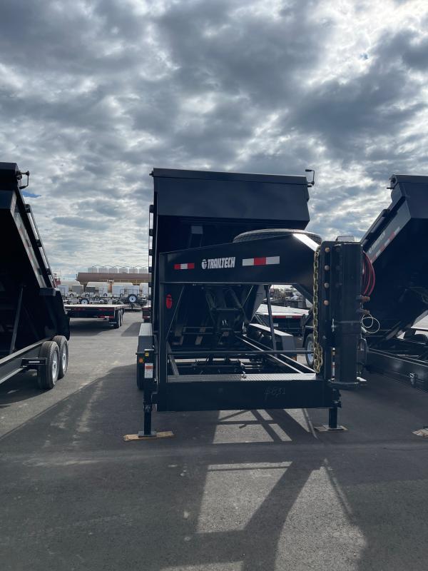 2022 Trailtech L370HD - 16' Drop Gooseneck Dump Trailer