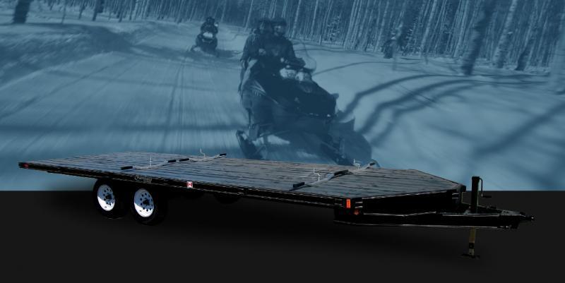 2022 Rainbow Trailers 16' x 2-Place ATV/Sled w/ 2-3500 lb. Axle Snowmobile Trailer