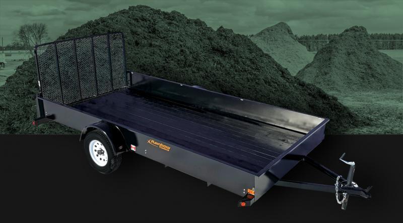 2020 Rainbow Trailers 5 x 10 Solid Side w/ 3500 lb. Axle Utility Trailer