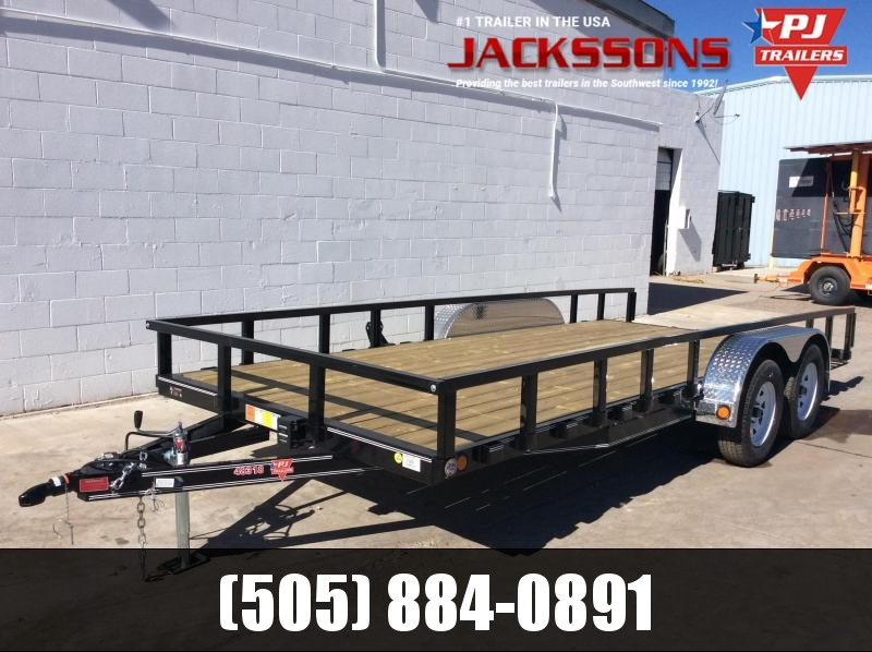 "PJ Trailers 18' x 83"" Channel Utility Trailer"