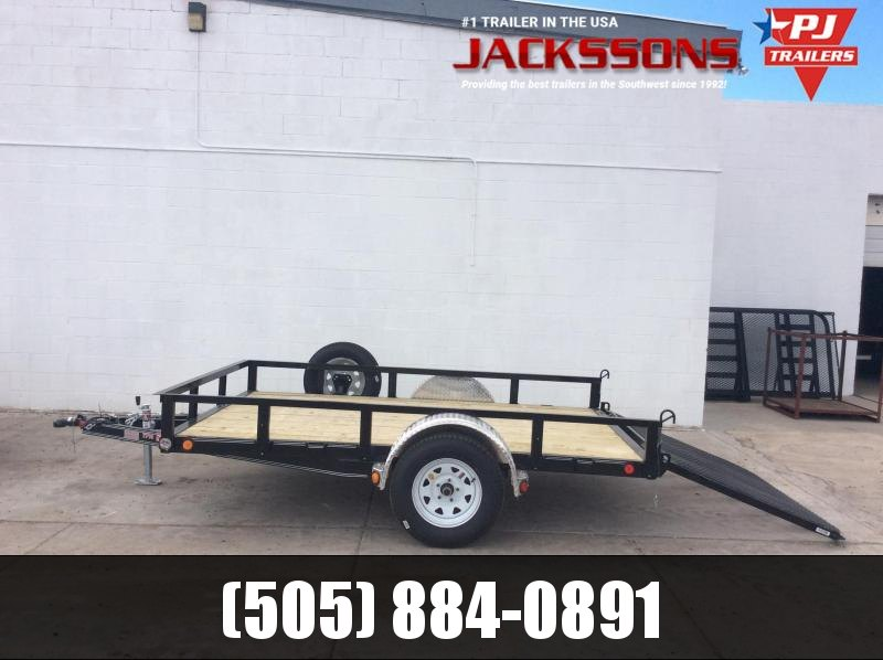 "PJ Trailers 12' x 77"" Channel Utility Trailer"