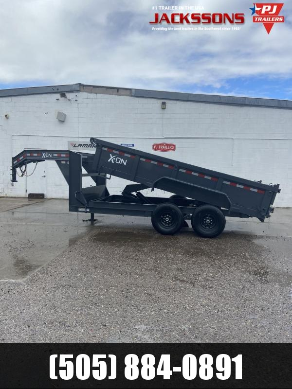 "X-ON GN 14' x 83"" Tandem Axle Dump Trailer"