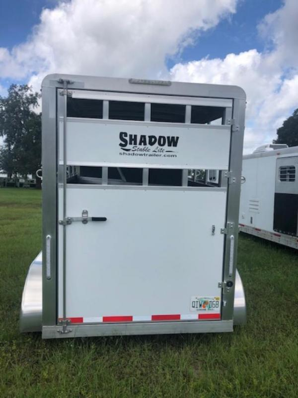 2021 Shadow Trailers 2 horse bumper pull with dressing room Horse Trailer